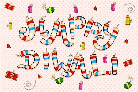 festive occasions: Happy Diwali celebration background in vector Illustration