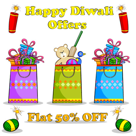 festive occasions: Happy Diwali discount sale promotion offer banner in vector