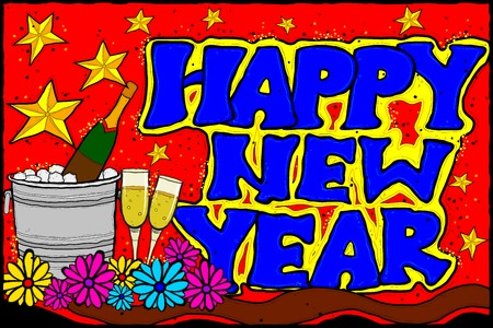 festive occasions: vector illustration of Happy New Year background