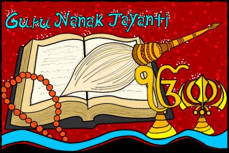 guru: vector illustration of Happy Guru Nanak Jayanti background Illustration