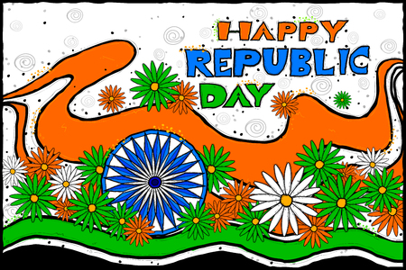 republic day:  vector illustration of Indian Republic Day celebration background