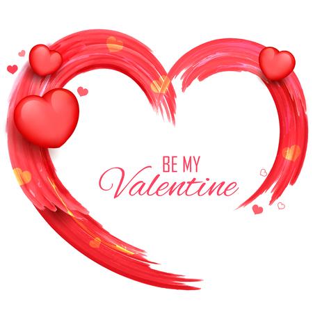 truelove: illustration of abstract Valentine Day Background saying Be my Valentine Illustration