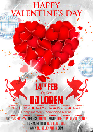abstract illustration: illustration of abstract Valentine Day Background for party banner