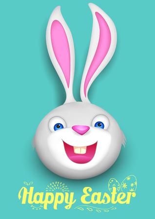 pasqua cristiana: illustrazione di coniglio in background Buona Pasqua Vettoriali