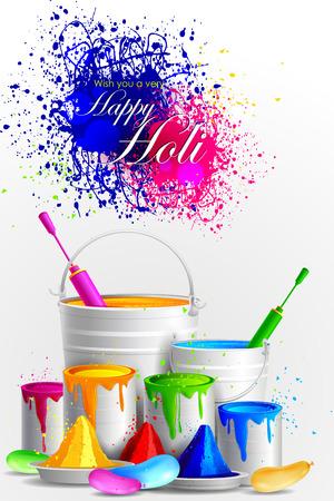 dhulandi: easy to edit vector illustration of colorful Holi background