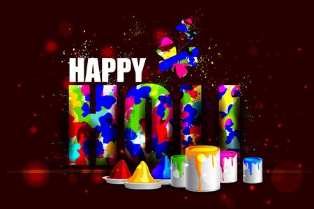 gulal: easy to edit vector illustration of colorful Holi background
