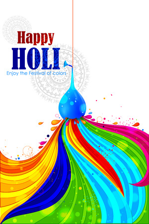 dhulandi: easy to edit vector illustration of colorful Holi background