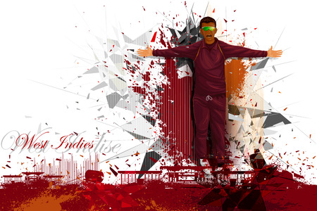 match: illustration of cricket player from West Indies