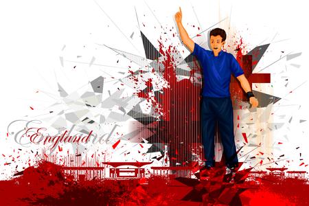 sports team: illustration of cricket player from England Illustration