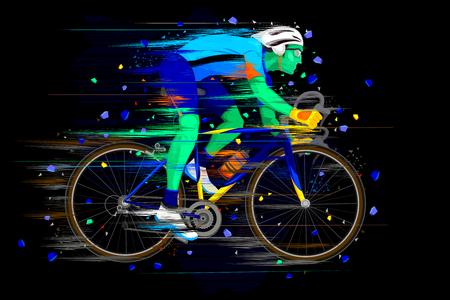 sportsman: ilustración de deporte Ciclismo haciendo