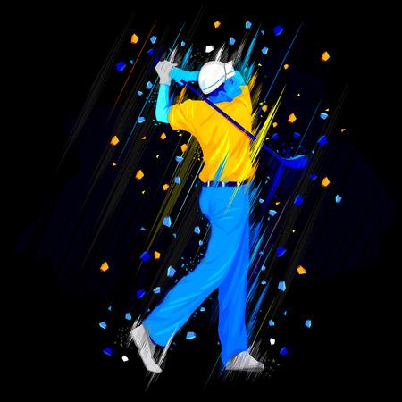 golf player: illustration of golf player