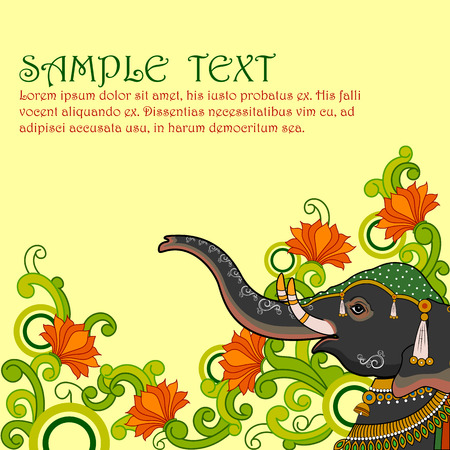 royal background: easy to edit vector illustration of Indian Art background