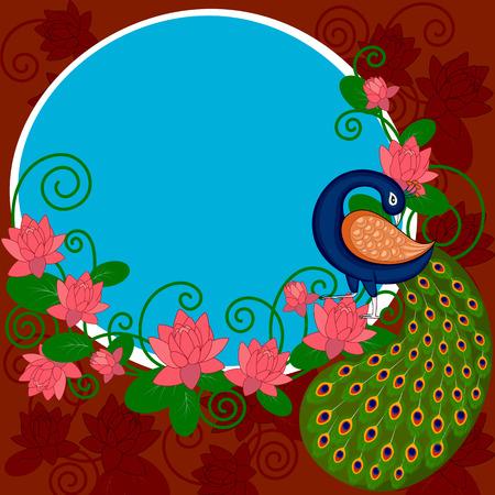 fácil de editar ilustración vectorial de fondo de arte de la India