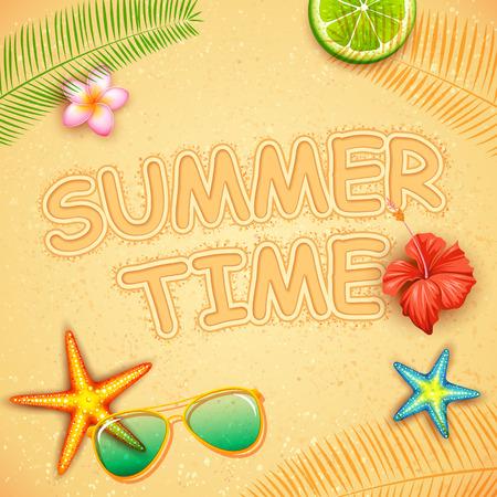 hot tour: illustration of SummerTime poster design