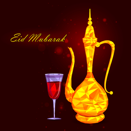 holy jug: vector illustration of drink and beverage for Eid Mubarak Blessing for Eid background