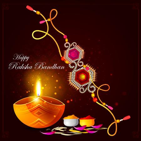hinduismo: fácil de editar ilustración vectorial de fondo Raksha Bandhan para la celebración del festival de la India Vectores