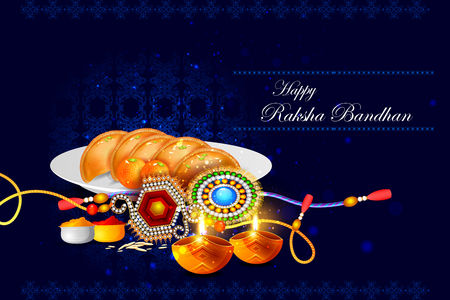 auspicious: easy to edit vector illustration of Raksha bandhan background for Indian festival celebration