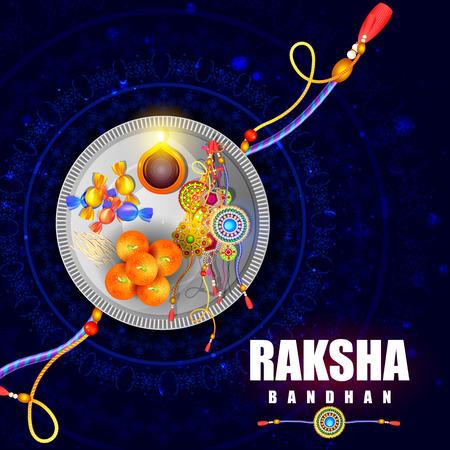 auspicious: easy to edit vector illustration of Raksha bandhan background for Indian festival celebration
