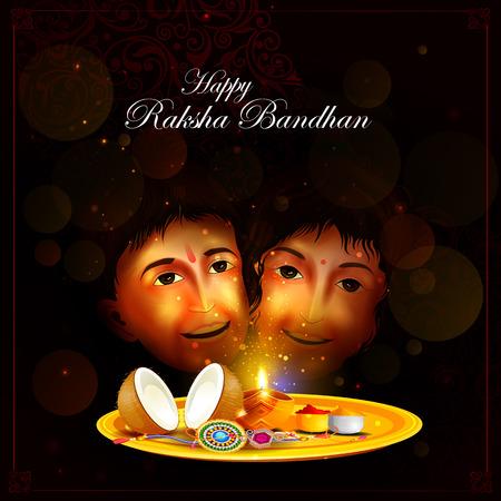 raksha bandhan: easy to edit vector illustration of Raksha bandhan background for Indian festival celebration