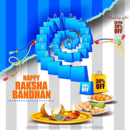 raksha: easy to edit vector illustration of Raksha bandhan background for Indian festival celebration