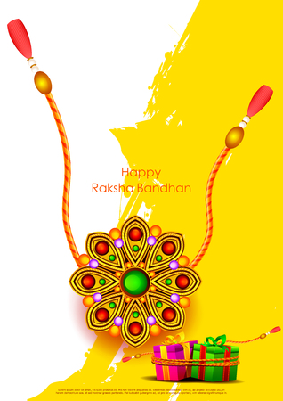 affection: easy to edit vector illustration of Raksha bandhan background for Indian festival celebration