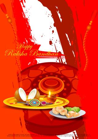 easy to edit vector illustration of Raksha bandhan background for Indian festival celebration