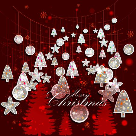 easy to edit vector illustration of decoration for Merry Christmas holiday celebration Illustration
