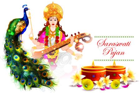 devi: Goddess Saraswati for Vasant Panchami Puja of India