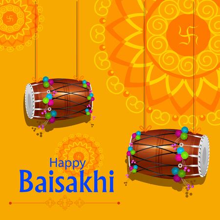 traditional culture: Celebration of Punjabi festival Baisakhi background.