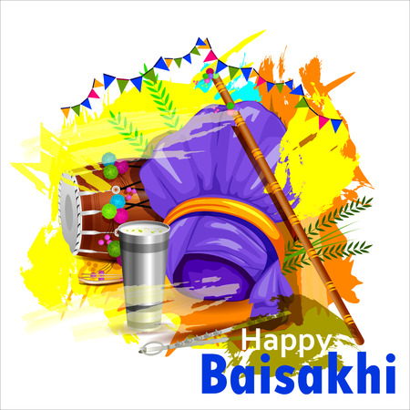 religion ritual: Celebration of Punjabi festival Baisakhi background.