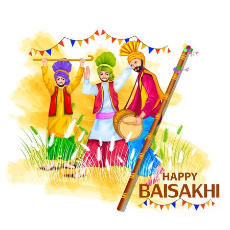 happy holidays: Celebration of Punjabi festival Baisakhi background.