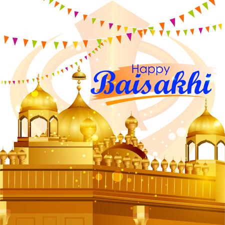 Easy to edit vector illustration of celebration of Punjabi festival Baisakhi pattern Illustration