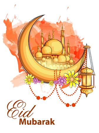 traditional culture: easy to edit vector illustration of Eid Mubarak Happy Eid background