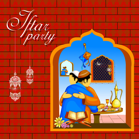 Iftar Party background for Happy Eid