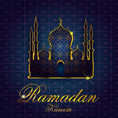 happy: Islamic design mosque door and window for Ramadan Kareem Happy Eid celebration background