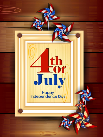 creative: 4th July, Independence day of America Illustration