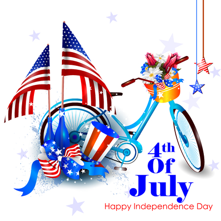 4th July, Independence day of America 向量圖像