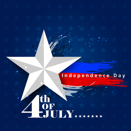 holiday party: 4th July, Independence day of America Illustration