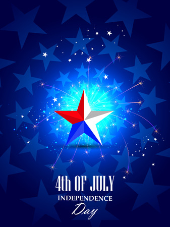 happy holidays: 4th July, Independence day of America Illustration
