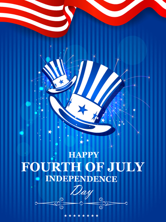 country: 4th July, Independence day of America Illustration