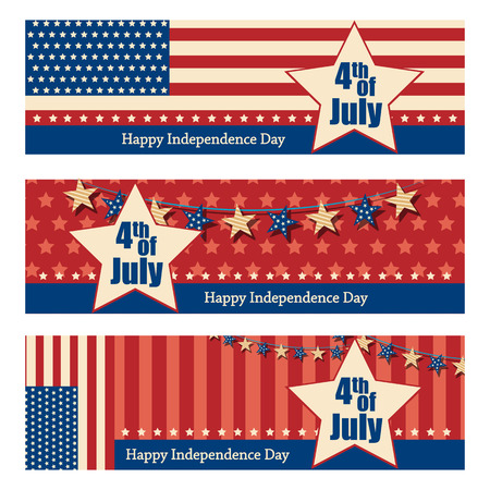 holiday background: 4th July, Independence day of America.