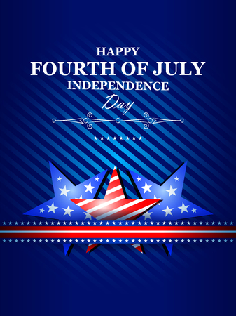 celebration party: 4th July, Independence day of America Illustration