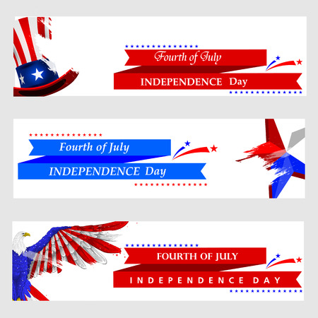 creative: 4th July, Independence day of America.