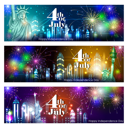 celebration background: 4th July, Independence day of America Stock Photo