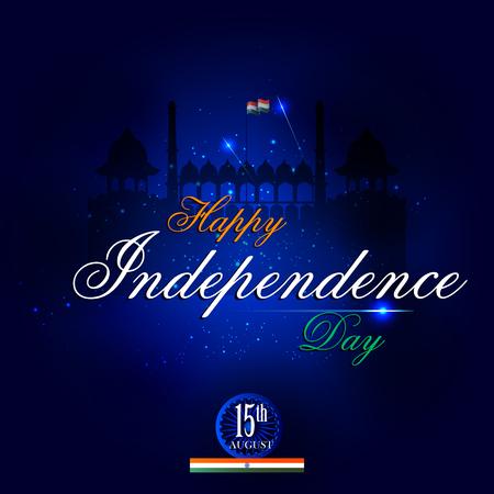 holiday background: Monument and Landmark of India on Indian Independence Day celebration background