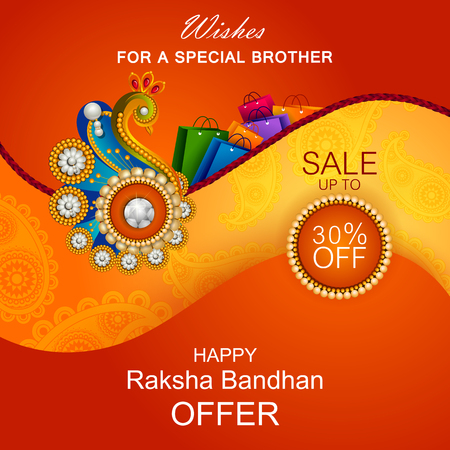 auspicious: Rakhi background for Indian festival Raksha bandhan celebration