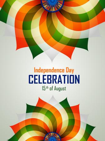 celebration background: Easy to edit vector illustration of Ashoka Chakra on Happy Independence Day of India background. Illustration