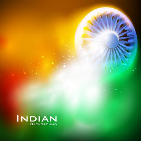 gemakkelijk om vectorillustratie van Ashoka-Chakra op Gelukkige Onafhankelijkheidsdag van de achtergrond van India uit te geven Stock Illustratie