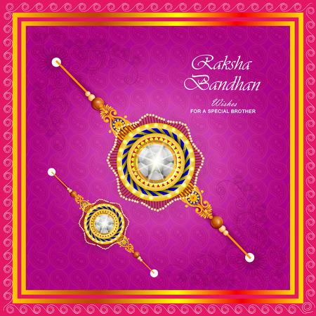 man: Rakhi background for Indian festival Raksha bandhan celebration