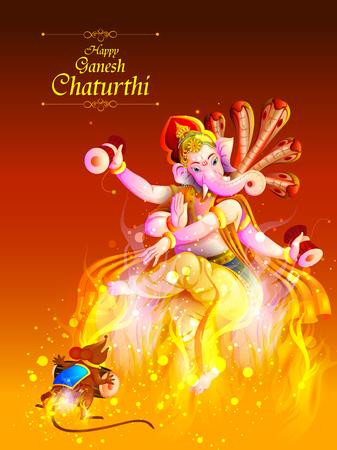 Lord Ganpati op Ganesh Chaturthi achtergrond